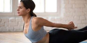 Boat pose to strengthen the core and improve posture